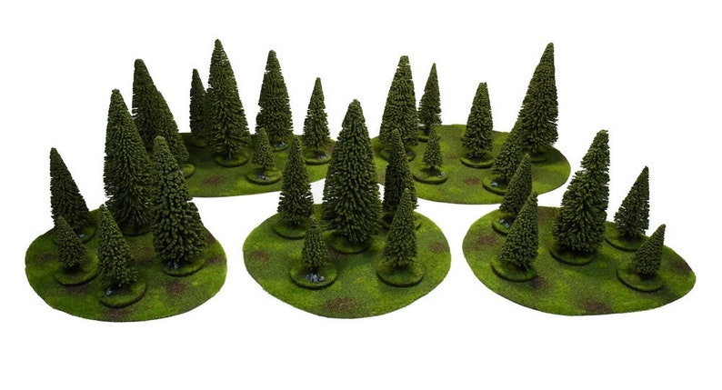 Wargame terrain - forest trees set – PAINTED - Miniature Wargaming & RPG  terrain
