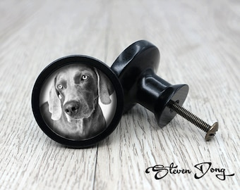 Dog / Retro Black Dresser Knobs / Cabinet Knobs / Furniture Knobs / 5  Colors To Choose / Customized