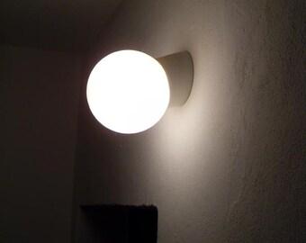 "Bauhaus lamp ""LEUNA S 30 OPAL"" opal glass porcelain lamp purpose lamp wall lamp"