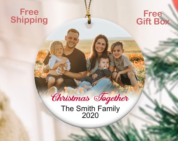 Personalized family Christmas Ornaments With gift box FREE SHIPPPING!