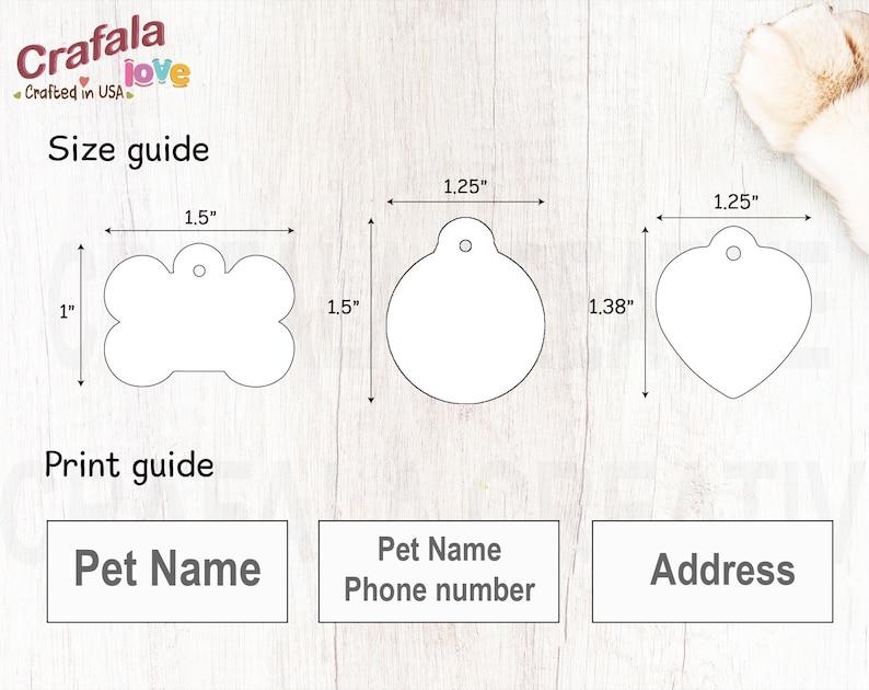 Pet ID Tag Personalized Pet Tag Custom Pet tag Dog Tag Luna Unique Tag Cat Tag Custom Print Tag