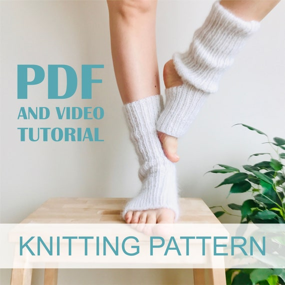 Knitting pattern Woman yoga socks Knit socks pattern Instant