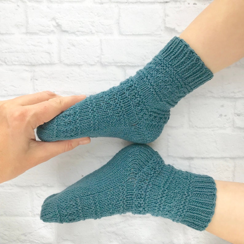 f0ba3204a Knitted socks Cotton baby socks Knit baby socks Blue baby