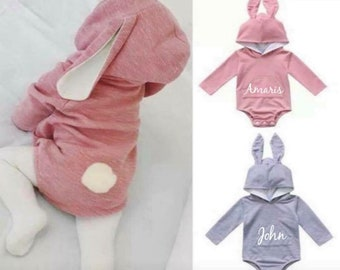 e82be3dafbc Adorable Easter Bunny Outfit Romper One piece !!