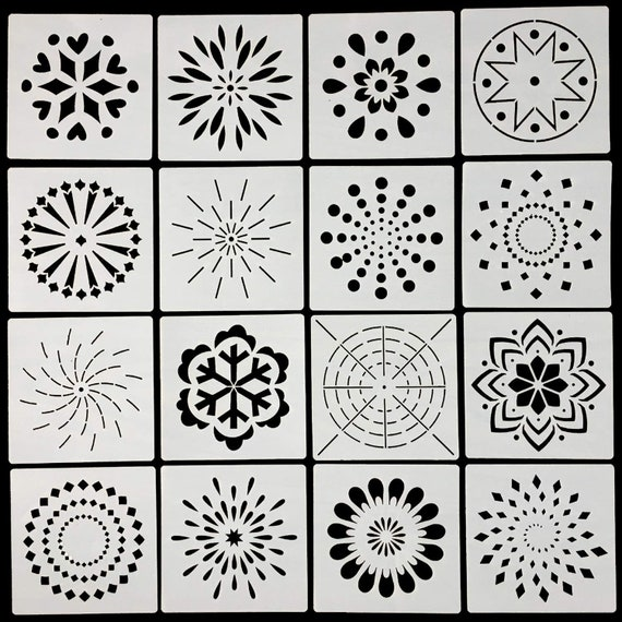 Mandala Stencils Mand Dotting Painting Tool Template for Stone Rock Painting New