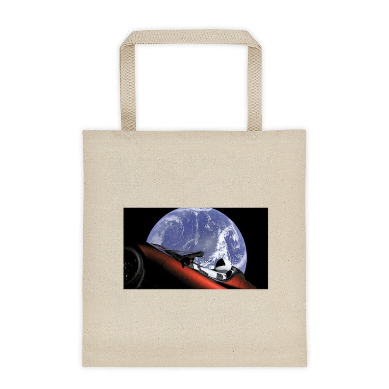 SpaceX Tote Bag Flat Earth FakeX and Flat Earth Society