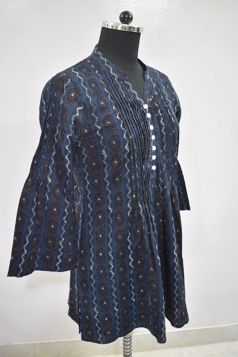 Kurti Handmade Block Printed Tunic Women/'s Cotton Dress New Fashion Designer Kurti Girl/'s Top Hippie Summer Dress