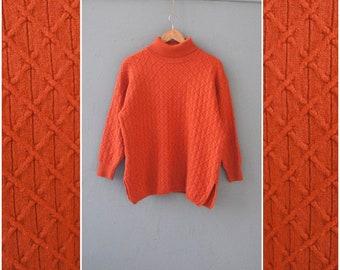 Rust Orange Sweater Etsy