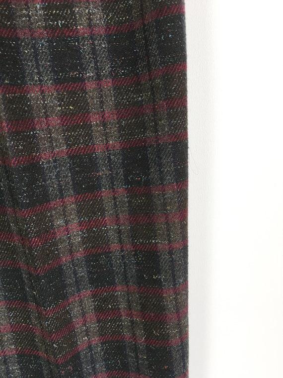 Plaid Pants Women Medium 80s Checked  Baggy Pants… - image 9