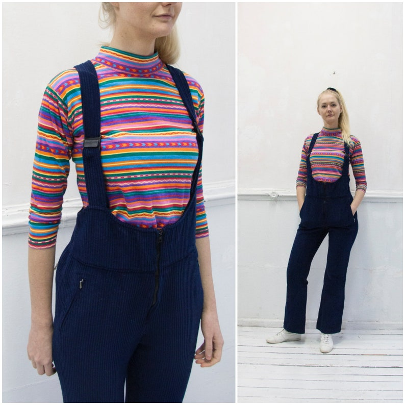 89ceed3f852 Vintage Corduroy Overalls 70s Overalls Oversize Strapped