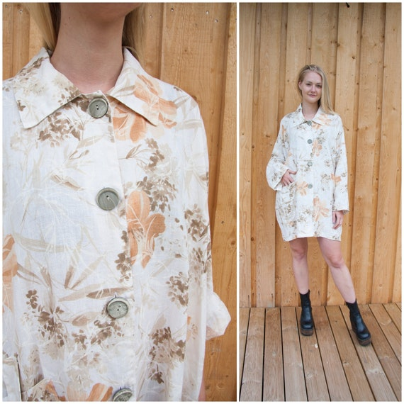 Linen Jacket Women Oversized Linen Jacket XXL Abs… - image 2