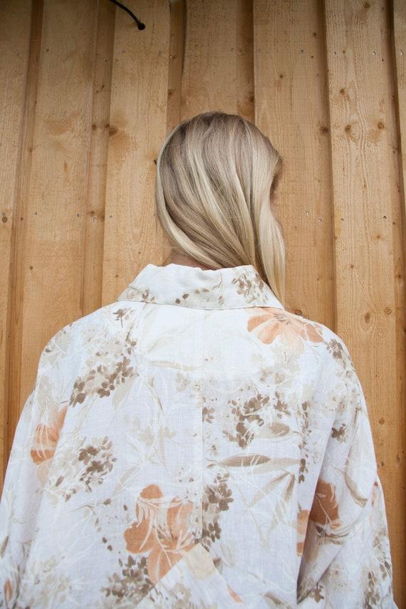 Linen Jacket Women Oversized Linen Jacket XXL Abs… - image 7