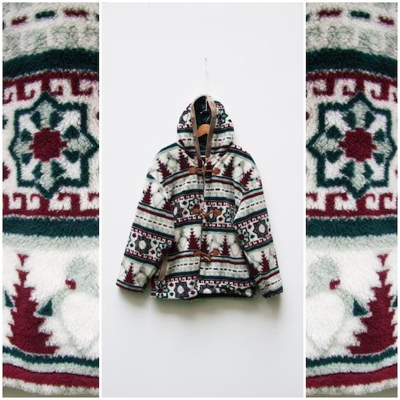 Fleece Jacket Women Small Teddy Bear Coat Hooded P
