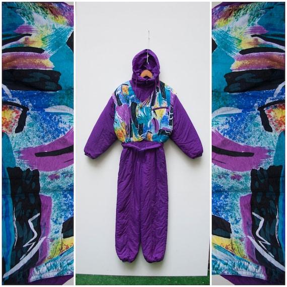 80s Ski Suit One Piece Ski Suit Women XS Snow Suit