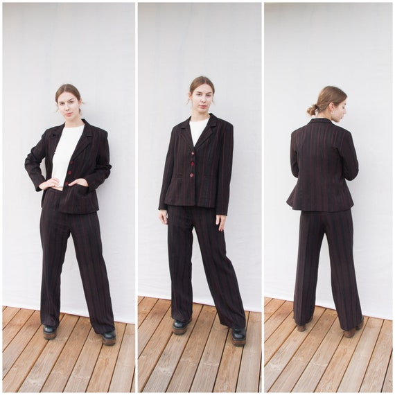 Vintage Pant Suit Women Small Medium 90s Trouser S