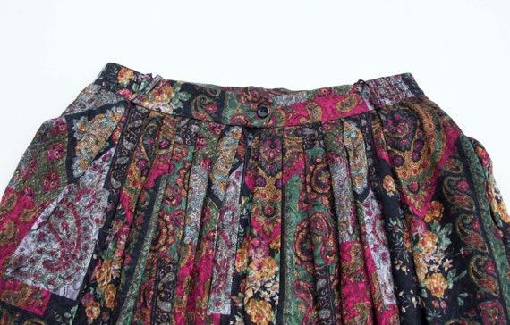 Vintage Boho Skirt Small Medium Gypsy Skirt Dark … - image 5