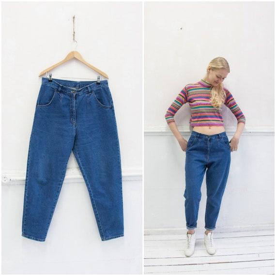 am besten einkaufen am besten einkaufen neue niedrigere Preise Vintage 80er Jahre Pumphose Mom Jeans 90er Jahre hoch taillierte Jeans  Womens L Dark Wash Freund Jeans B33 konisch Mom Jeans Hochhaus Taille 33 ...