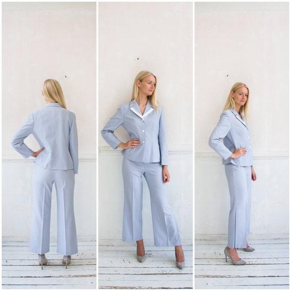 Vintage Pant Suit Womens M Trousers Suit Two Piece