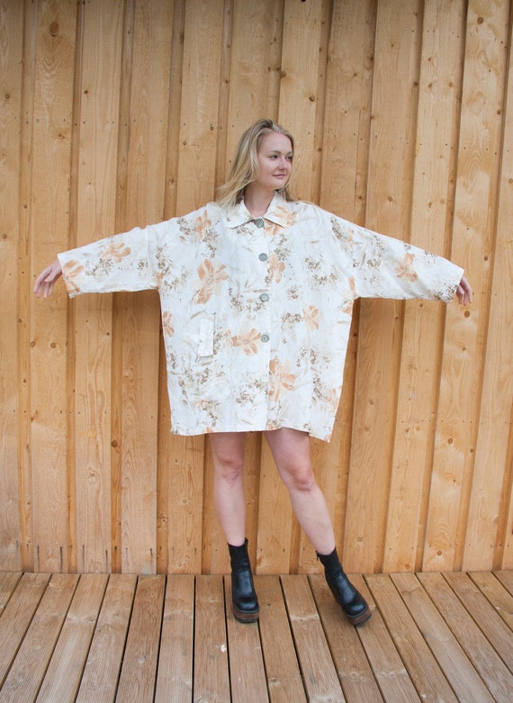 Linen Jacket Women Oversized Linen Jacket XXL Abs… - image 4