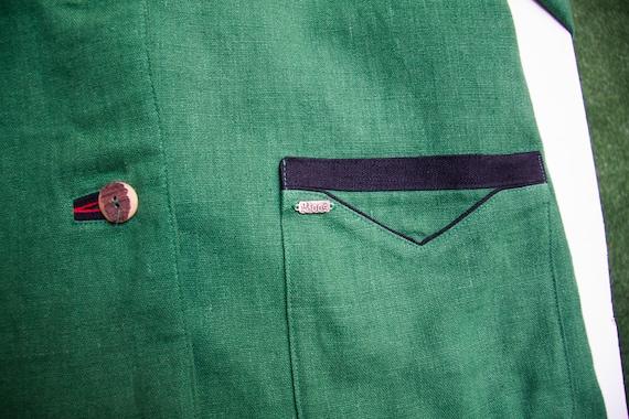 Linen Jacket Women Large Vintage Green Linen Jack… - image 7