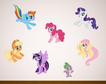 7 Inch Rarity Decal Unicorn MLP My Little Pony Removable Peel Self Stick Vinyl Wall Sticker Art Kids Room Home Decor Nursery 7x7 inch