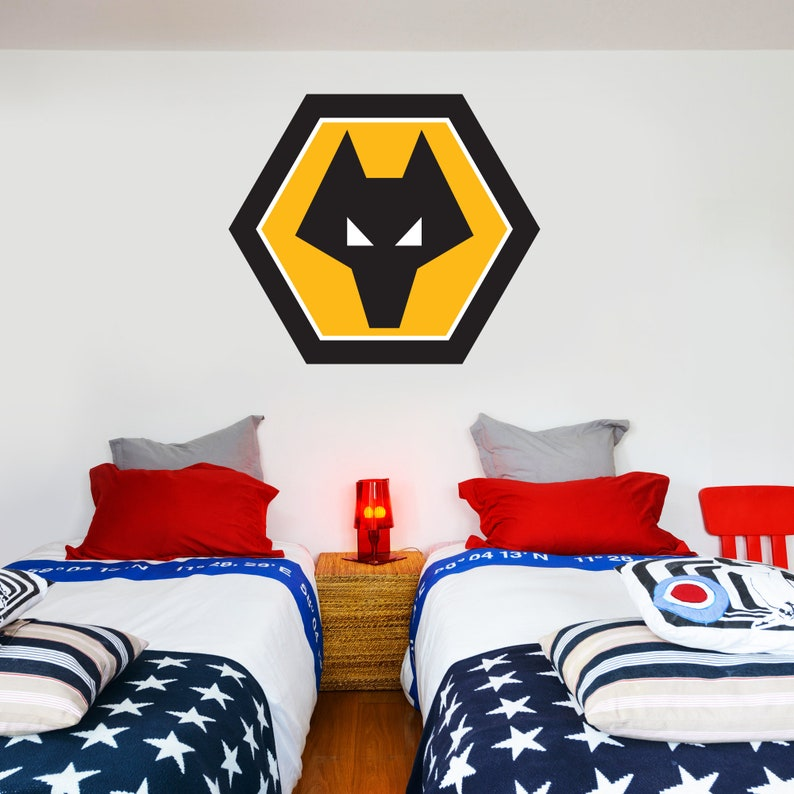 Wolverhampton Wanderers Molyneux Stadium Smashed Wall Mural Wolves Sticker Set
