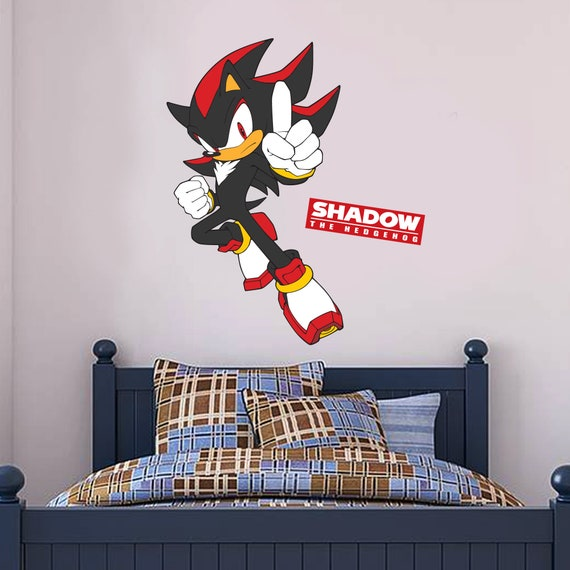 Sonic The Hedgehog Wall Sticker Shadow Etsy