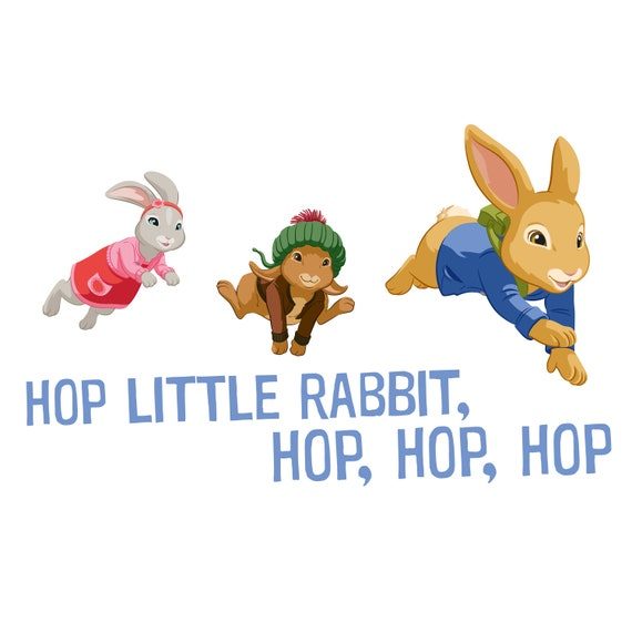 Official Peter Rabbit Wall Decal Hop Little Rabbit Hop Trio Wall Sticker