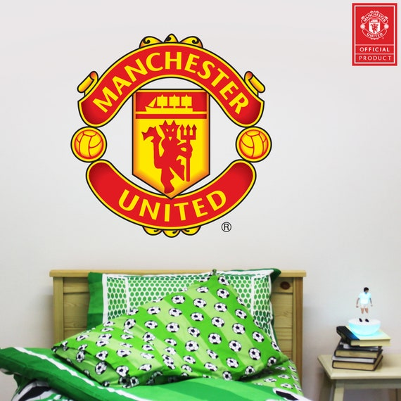 Manchester United Football Club Crest Bonus Wall Sticker Set