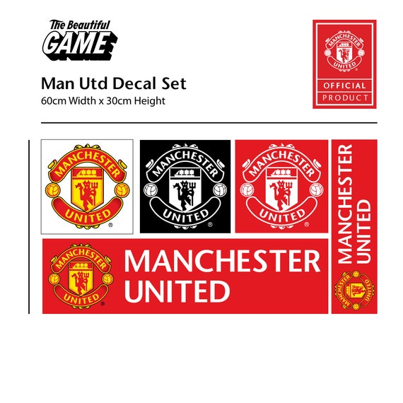 Manchester United Football Club One Colour Crest Bonus Wall Sticker Set