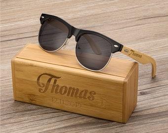 61ee605325 Personalized bamboo Wood Wooden Sunglasses, Engraved Unisex Sunglasses,  Mens Sunglasses, Mens Gift, Groomsmen Gift, Bachelorette Sunglasses