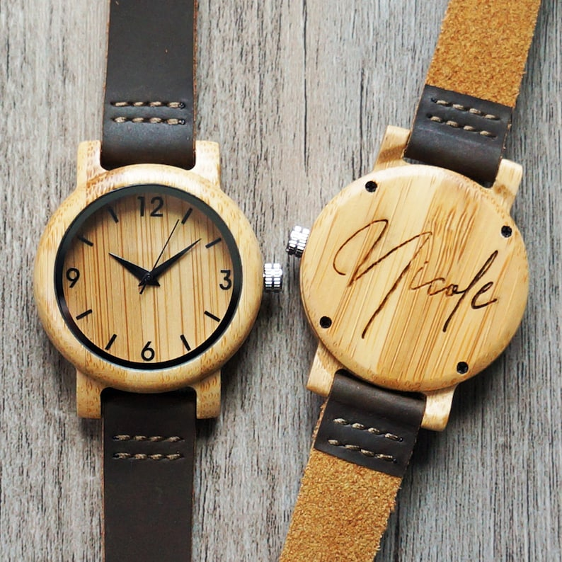 If you want to remind your wife or girlfriend of your love time, and she does wear a watch, buy her a personalized watch. A wooden case engraved with your personal message would be so special, like her position in your heart. Your gift and your love will follow her anywhere.