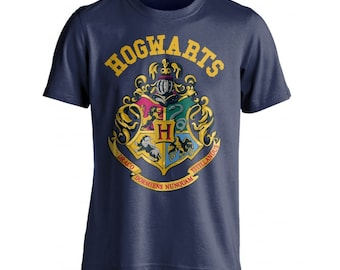 d16674b842b Harry Potter Hogwarts School Crest Navy Children s   Youths Unisex Short  Sleeved T-Shirt