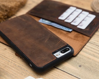 iPhone 7 Plus Wallet Case Leather f8bb92ee1d13