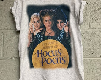 fa590dcd Vintage Just a Bunch of Hocus Pocus Shirt Halloween shirt hocus pocus t  shirt Unisex Heather ash gray