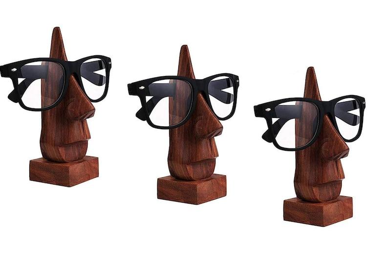 5ffbc184456 Whopper set of 3 Handmade Wooden Spectacle Holder Desktop