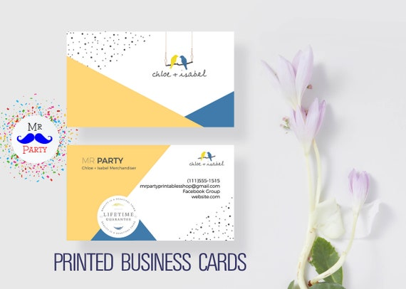 Chloe isabel jewelry business card printed business cards etsy image 0 colourmoves