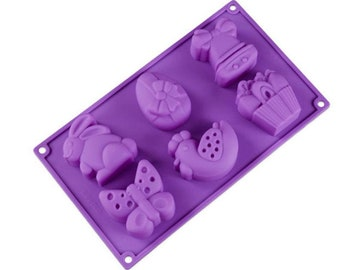 Silicone cake molds pink pig DIY12 cookie molds handmade baking muffin molds