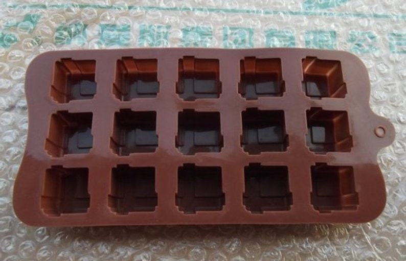 15-Gift Box Silicone Mold Candy mold Chocolate mold Resin Crafts mold DIY Mold polymer clay mold sugar mold Biscuit mold food mould