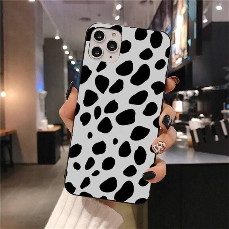 iPhone 12 iPhone xs iPhone 11 iPhone xr iPhone 11 Pro iPhone SE2 iphone 8 7 6 cow case Coffee Dots iPhone Case iPhone 12 Pro Max