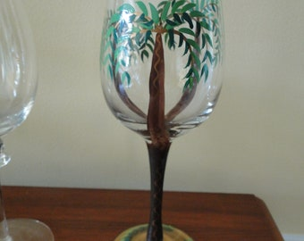 b9778038dc9 Hand-painted Barware Stemware wine glass - Long Stemmed