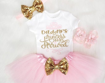 e21a8cf59 Pink and Gold Daddys Princess Has Arrived