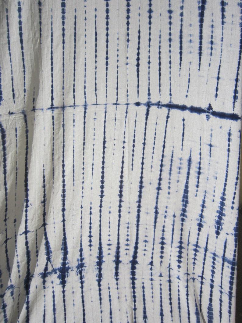 80 by 44 blue and white curtain Bohemian curtain Shibori Tie dye curtain boho decor cotton indigo tie dye curtain beach curtain