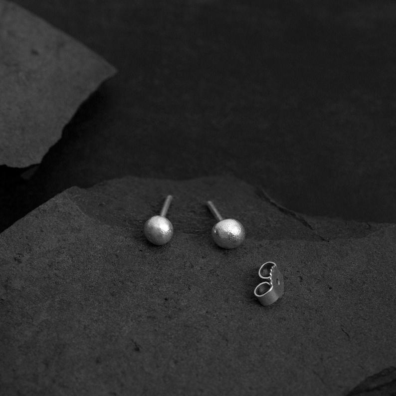 Ball earrings 5mm from sterlingsilver  round ear jewellery  image 0