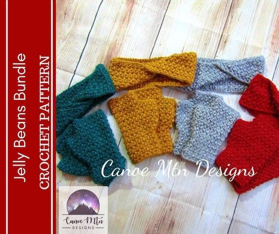 Crochet Pattern Bundle  Crochet Fingerless Gloves Pattern