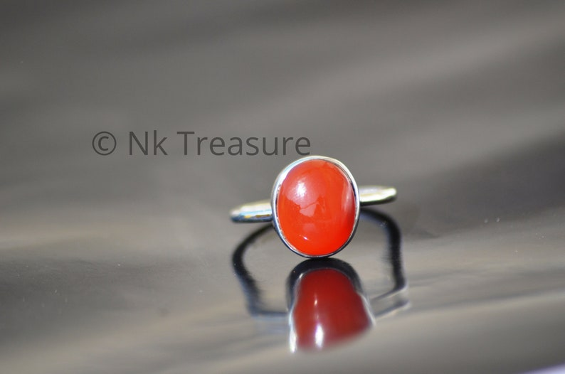 Natural Red Onyx Gemstone Solid 925 Sterling Silver Ring Artisan Jewelry Handmade Item Huge Style