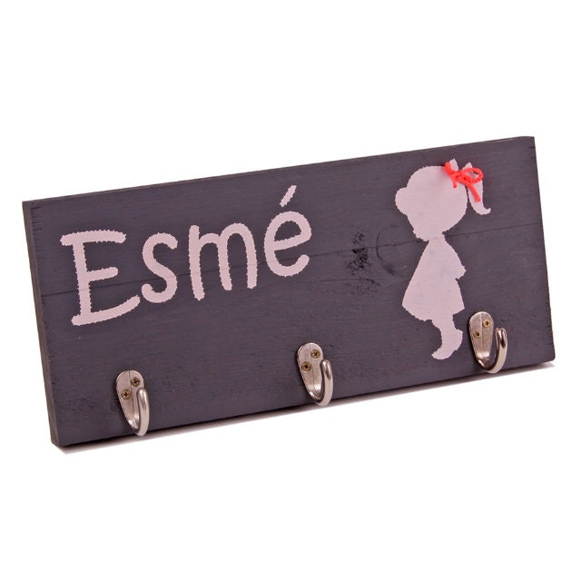 Personalised Birthday Gift Girl Coat Rack With Name