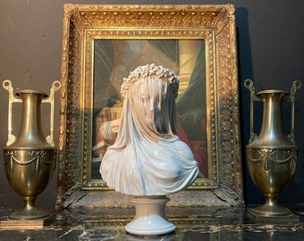 The Veiled Lady Bust, Veined and Polished Finish