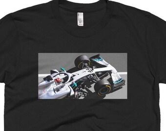 d90f95106d Lewis Hamilton Mercedes AMG F1 W10 Short Sleeve T-shirt