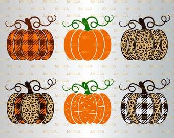 Cricut Decor orange pumpkins with leaves Pumpkin Monogram SVG Fall Clipart Dfx eps Cut file Autumn Holiday Design PNG Silhouette